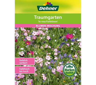 Dehner Samen Blumenmischung 'Farbgarten in rosa Tönen'
