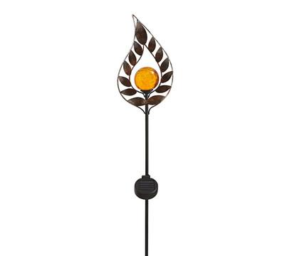 Dehner Solar-Dekostab Arian, ca. H130 cm, metallic-braun/orange
