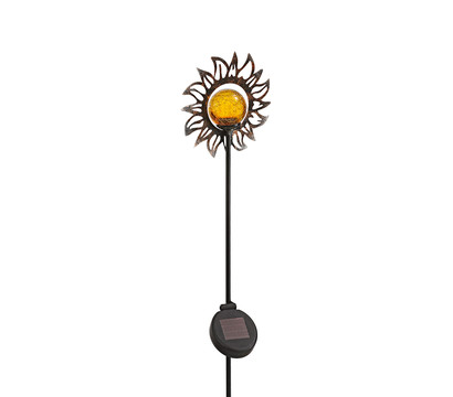 Dehner Solar-Dekostab Aurelia, ca. H110 cm, metallic-braun/orange