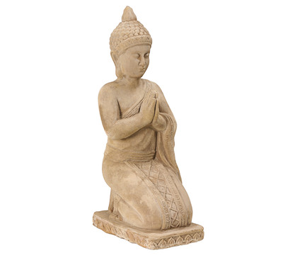 Dehner Terrakotta-Buddha, ca. B22/H58/T29 cm