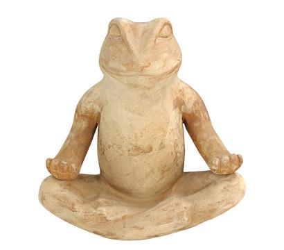 Dehner Terrakotta-Frosch Zen, ca. B36/H37/T18 cm