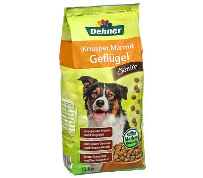 Dehner Trockenfutter Knusper Mix Geflügel Senior
