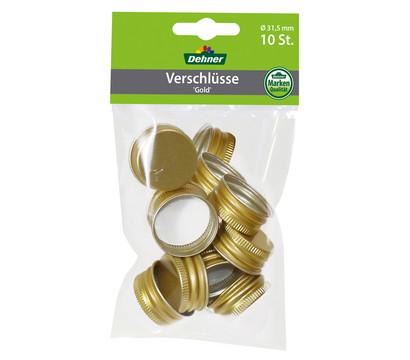 Dehner Verschlüsse gold, 10 Stück