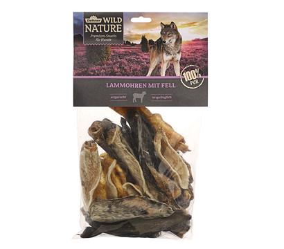 Dehner Wild Nature Hundesnack Lammohren mit Fell, 200g