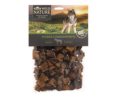 Dehner Wild Nature Hundesnack Pferde-Lungenwürfel, 200g