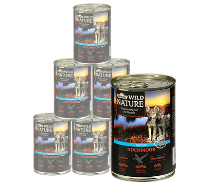 Dehner Wild Nature Nassfutter Hochmoor Junior, 6x400 g/800 g