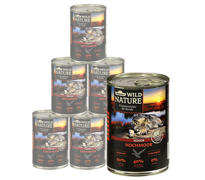 Dehner Wild Nature Nassfutter Hochmoor Senior, 6 x 400g/800g