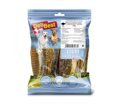 DeliBest Hundesnack Straußenfleisch Sticks