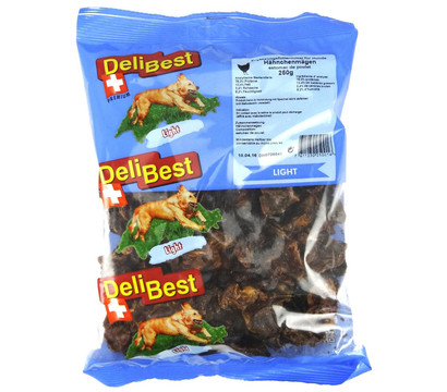 DeliBest Light Hähnchenmägen, Hundesnack, 250g