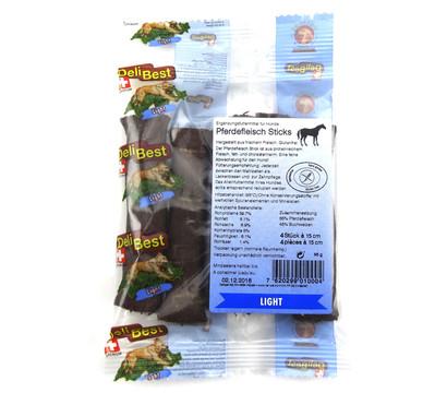 DeliBest Light Pferdefleisch Sticks 15cm, Hundesnack, 120g