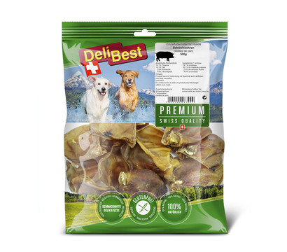 DeliBest Premium Hundesnack Schweineohren