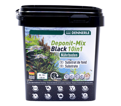 DENNERLE Aquarium Bodengrund Deponit-Mix Black 10in1