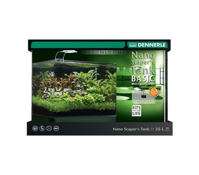 DENNERLE Aquarium-Set Nano Scaper's Tank Basic LED, 35L