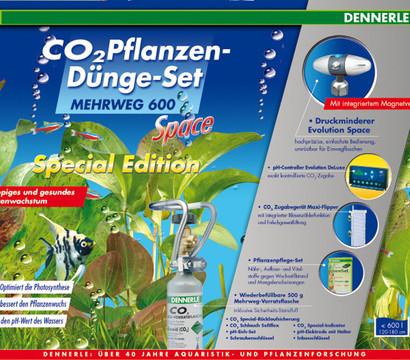 DENNERLE CO2 Pflanzendünge-Set Mehrweg 600 Space Special Edition