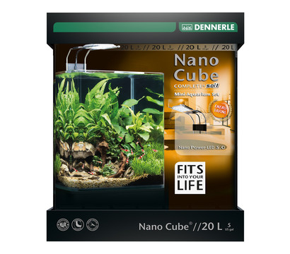 DENNERLE Mini-Aquarium Set Nano Cube® Complete+ Soil