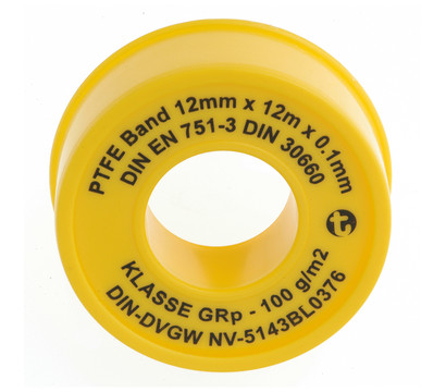 Dichtbandrolle PTFE, 12 m x 12 mm