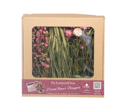DIY Box Trockenblumenstrauß, pink