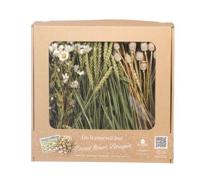 DIY Box Trockenblumenstrauß, weiß