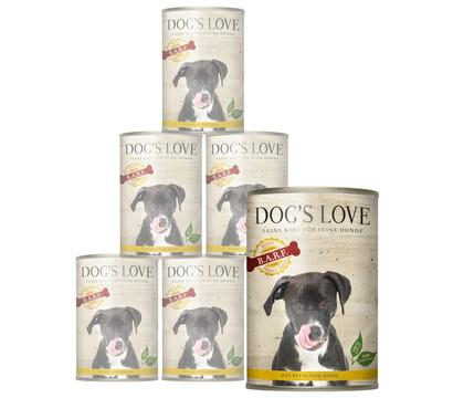DOG'S LOVE Ergänzungsfutter B.A.R.F. PUR, 6 x 400g
