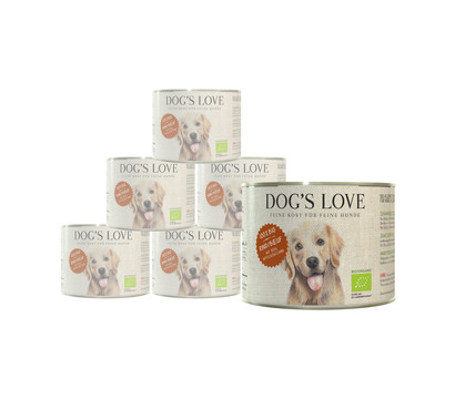 DOG'S LOVE Nassfutter Bio, 6 x 200g
