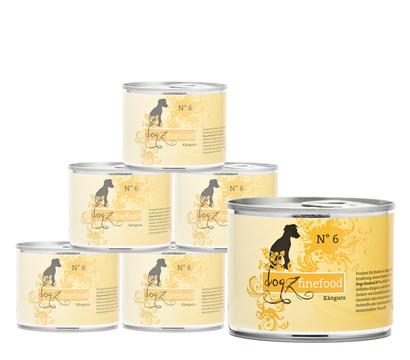 dogz finefood Nassfutter No. 6 Känguru, 6 x 200/400/800g