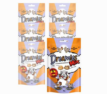 Dreamies™ Katzensnack Mix Huhn & Ente, 6 x 60g
