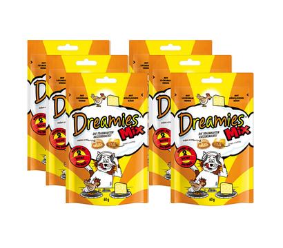 Dreamies™ Katzensnack Mix Huhn & Käse, 6 x 60g