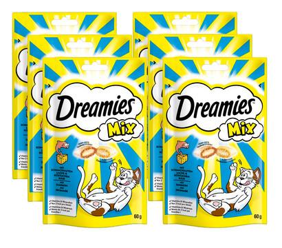 Dreamies™ Katzensnack Mix Lachs & Käse, 6 x 60g