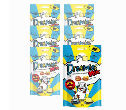Dreamies® Mix Lachs & Käse, Katzensnack, 6x60 g