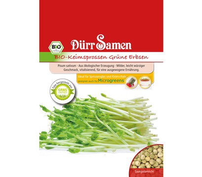 Dürr Samen Bio-Keimsprossen Grüne Erbsen