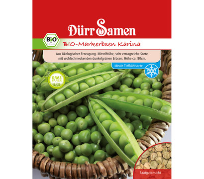Dürr Samen Bio-Markerbsen Karina 'Pisum sativum'