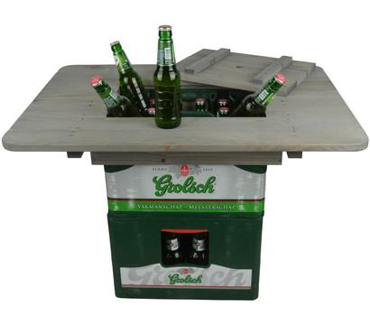 Esschert Holz-Bierkistentisch-Aufsatz mit Deckel, ca. B78/H11/T57