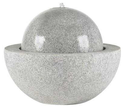 Esteras Fiberglas-Gartenbrunnen Guapi, ca. Ø 77/H62 cm, granit-grau