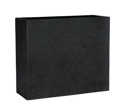 Esteras Polystone-Kasten Dalfsen, rechteckig, 65 x 25 x 55 cm, schwarz