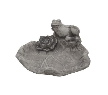 fantasieco Stein-Vogeltränke Frosch, ca. B31/H14/T32 cm