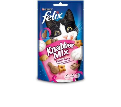 Felix Knabbermix Picnic Party, Katzensnack, 60 g