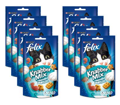 Felix Knabber-Mix Strandspaß, Katzensnack, 8x60 g