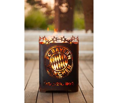 Ferrum FCB Feuerkorb Mia san Mia, rund, Ø 39 x 56 cm, rost