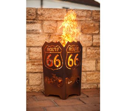 Ferrum Feuerkorb Route 66, eckig, 35 x 35 x 65 cm, rost