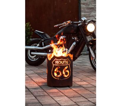 Ferrum Feuerkorb Route 66, rund, Ø 39 x 48 cm, rost