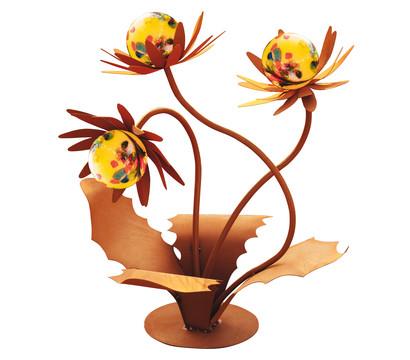 Ferrum Metall-Blume Distel mit Glasblüten, ca. Ø55/H70 cm