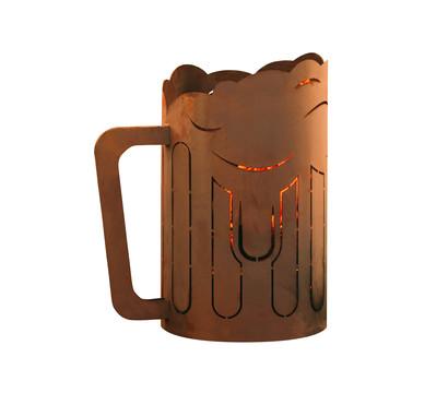 Ferrum Metall-Windlicht Bierkrug