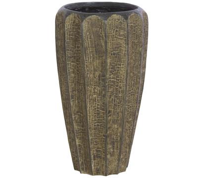fleur ami Polystone Firewood Pflanzgefäß groß, braun