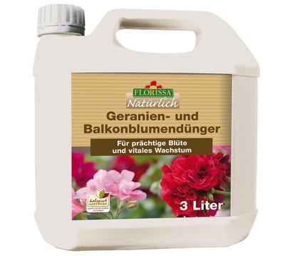Florissa Geranien- und Balkonblumendünger, 3 Liter