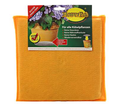 Flowerpad Pflanztopfeinleger, quadratisch, orange