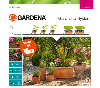 gardena micro drip system start set pflanzt pfe m dehner garten center. Black Bedroom Furniture Sets. Home Design Ideas