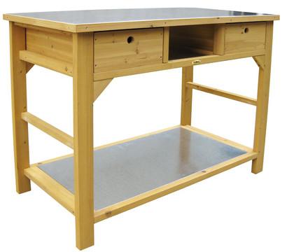 Gartentisch mit Schubladen
