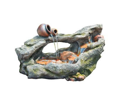 Granimex Polystone-Gartenbrunnen Wasserspiel Huka, ca. B102/H61/T50 cm
