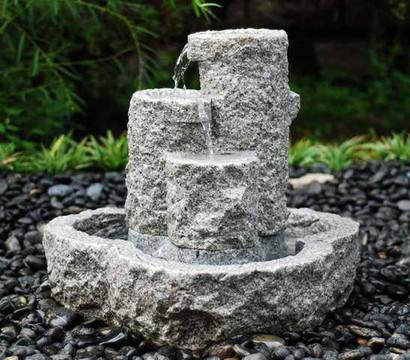 Dehner granit brunnen set 55 x 55 x 55 cm dehner garten for Granit deko garten