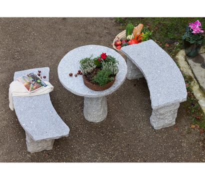 granit gartenbank gebogen 2 sitzer dehner garten center. Black Bedroom Furniture Sets. Home Design Ideas